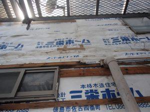 外壁工事中 徳島